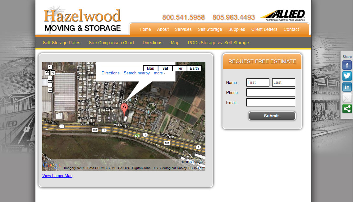 Santa Barbara Moving Company - Hazelwood Allied Storage