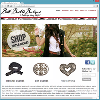 Product Website Template - Belt Buckle Boutique