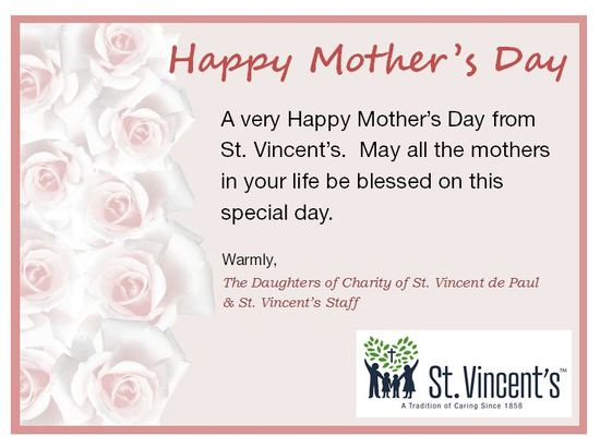 Happy Mother's Day from St. Vincent's