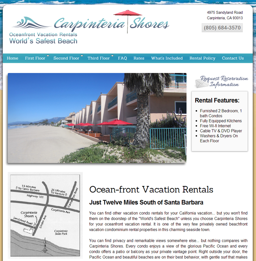 Carpinteria Shores Oceanfront Vacation Rentals