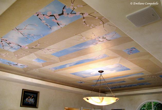 Cherry Blossom ceiling mural 2