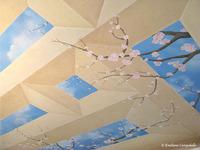 Cherry Blossom ceiling mural 3