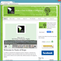 Non Profit Website - Taste of Hope