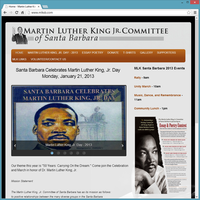 Non Profit Website - Martin Luther king Jr. Committee