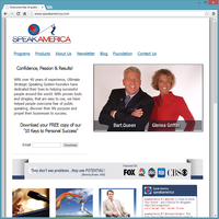 Professional Service Website Template - Speak America