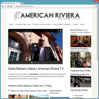 Professional Service Website Template - American Riviera TV