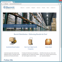Professional Service Website Template - Barrett Distribution
