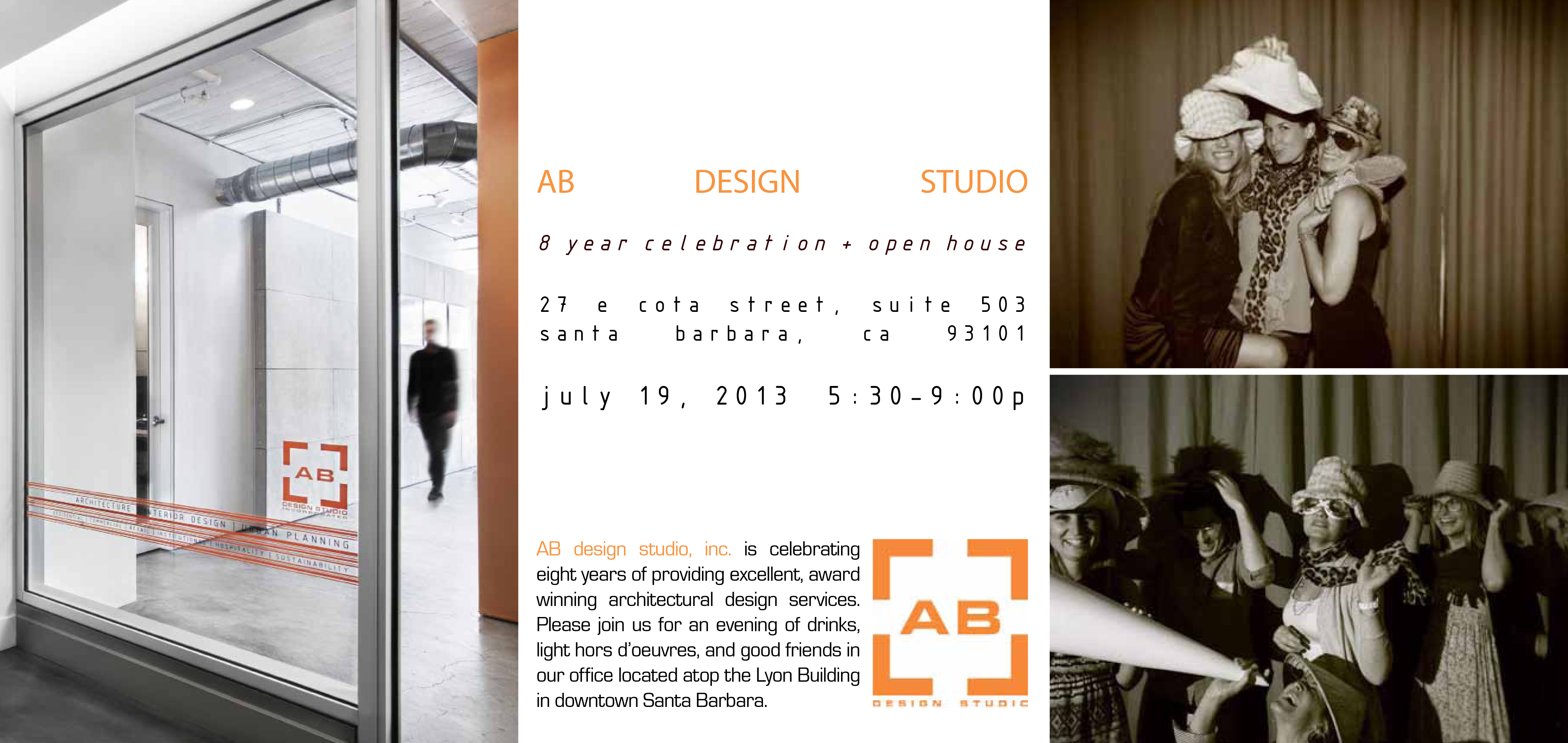 AB DESIGN STUDIO  8 year celebration + open house
