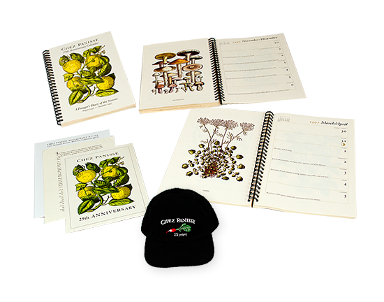 Chez Panisse 25th Anniversary Collateral