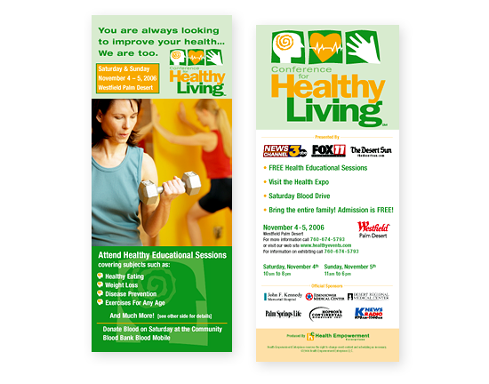 Healthy Living Conference Rack Card