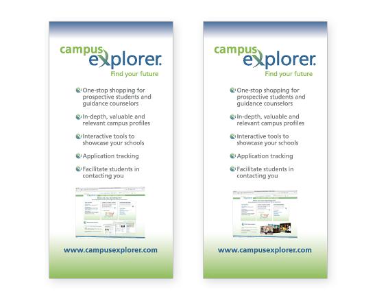 Campus Explorer Retractable Trade Show Posters