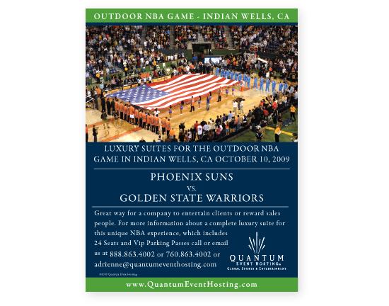 Quantum Event Hosting NBA Game Poster
