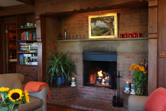 Eucalyptus fireplace