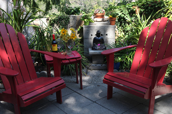 Relaxing, zen-style garden