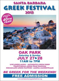 The 40th Annual Santa Barbara Greek Festival Returns to Oak Park this Weekend
