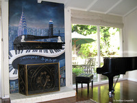 New York, New York Fireplace mural 2