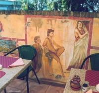 Pompeii fresco restaurant murals 4