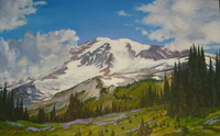 """Mt. Rainer Springtime"", 30""x48"", oil, $3,000.00"