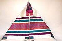 Maya's tallit with Indian silk