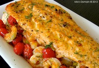 Spicy Shrimp Stuffed Salmon