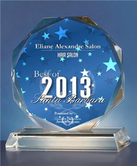 Eliane Alexandre Salon Receives 2013 Best of Santa Barbara Award