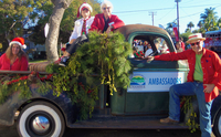 Carpinteria Chamber rides in the Holiday Parade