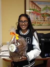 Itzayana and her Giant Chocolate Turkey