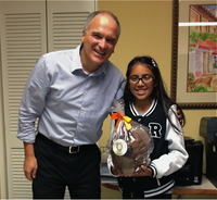 Dr. Trigonis, Itzayana and her Giant Chocolate Turkey