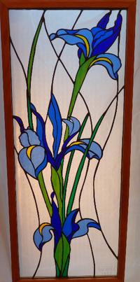 "Phyllis's Irises"", 9 1/2"" X 24 1/4"", 1997, NFS"