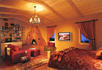 Santa Fe Style In Montecito Master Bedroom Suite