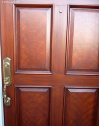 Faux mahogany door 667