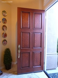 Faux Mahogany door 668