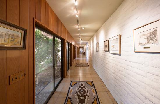 Hacienda-style Gallery Hallway