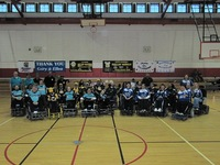Group photo of three Power Soccer teams