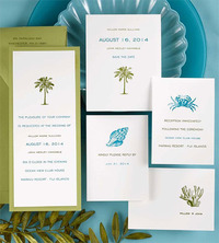 Weddings by Diana & Invitations - Tropical Invitations