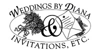 Weddings by Diana & Invitations, Etc. Logo