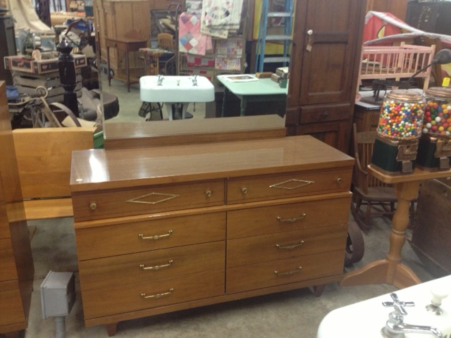 Mid-Century Modern Dresser with Mirror