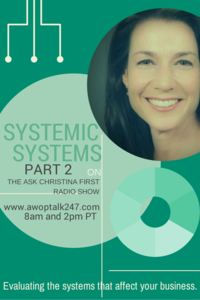 Thursday- Part 2 on Systemic Systems