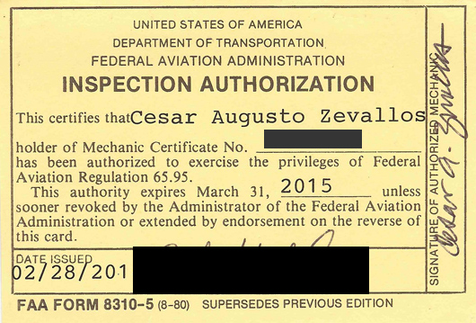 FAA Mechanic Certified