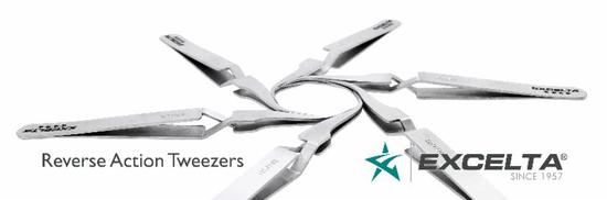 Reverse Action Tweezers by Excelta