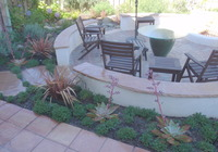 Backyard Patio with CA Friendly Plantings