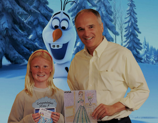 Kate, Our Frozen Contest Winner!