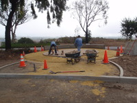 Setting Pavers in Mandala Pattern