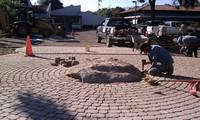 Installing Large Boulder