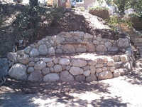 Stone Wall & Bench