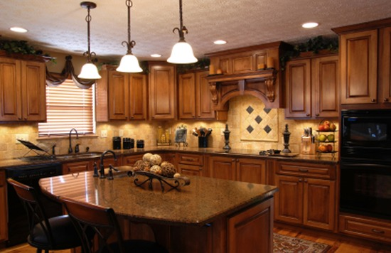 The L Shape with Island Kitchen