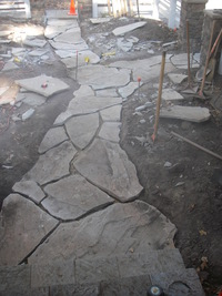 Rustic Flagstone Path
