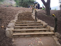 Flagstone and Sandstone Stairs