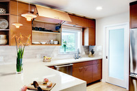 Contemporary kitchen sink wall
