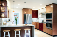 Contemporary kitchen overview